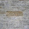 Anglo-Saxon sculptured fragment built into the exterior beneath the window fo the chancel, St Gregory's Minster