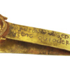 Gold strip with inscription