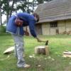 Wullaf Chops Wood