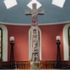 Ruthwell Cross in church